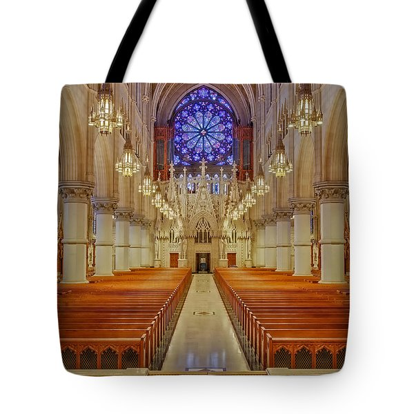 Sacred Heart Cathedral Basilica Tote Bag by Susan Candelario