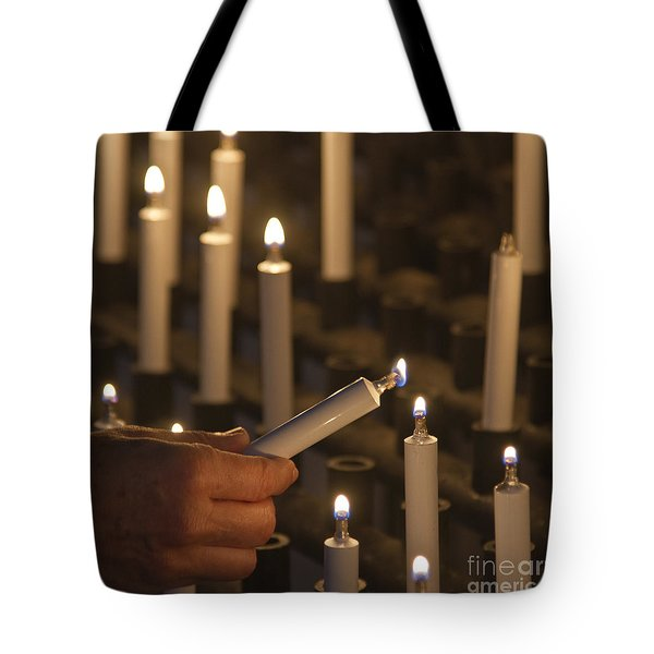 Sacrificial Candles 3 Tote Bag by Heiko Koehrer-Wagner