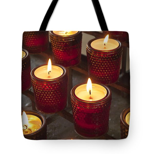 Sacrificial Candles Tote Bag by Heiko Koehrer-Wagner