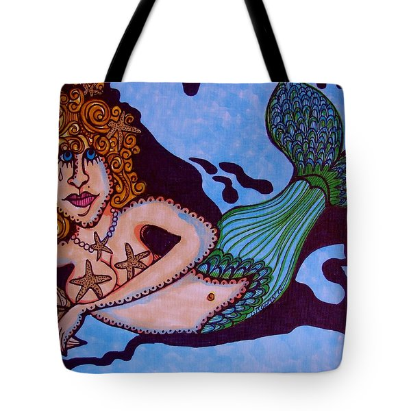 Sad Mermaid Tote Bag