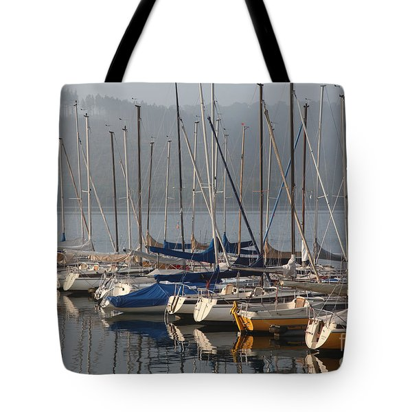 Sail Boats Tote Bag by Enzie Shahmiri