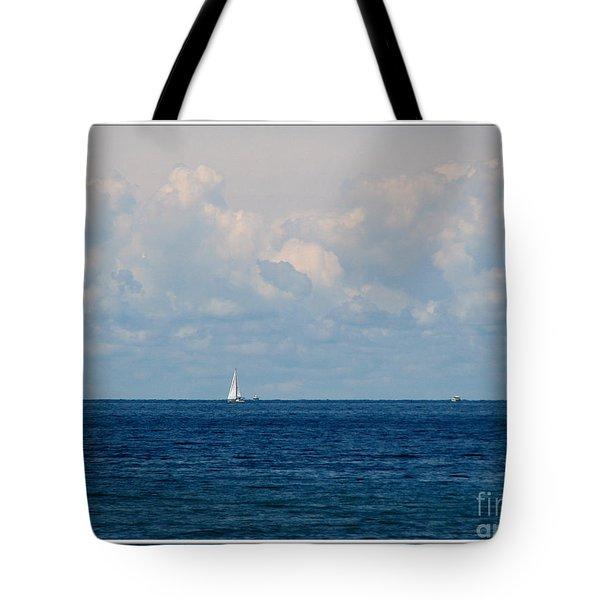 Sailboat On Lake Ontario Tote Bag by Rose Santuci-Sofranko