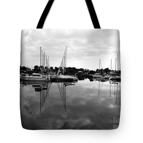 Sailboats At Bluffers Marina Toronto Tote Bag by Susan  Dimitrakopoulos