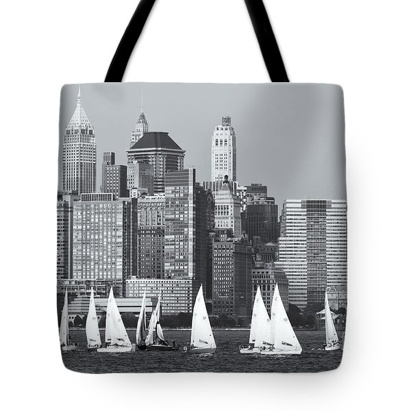 Sailboats On The Hudson V Tote Bag by Clarence Holmes
