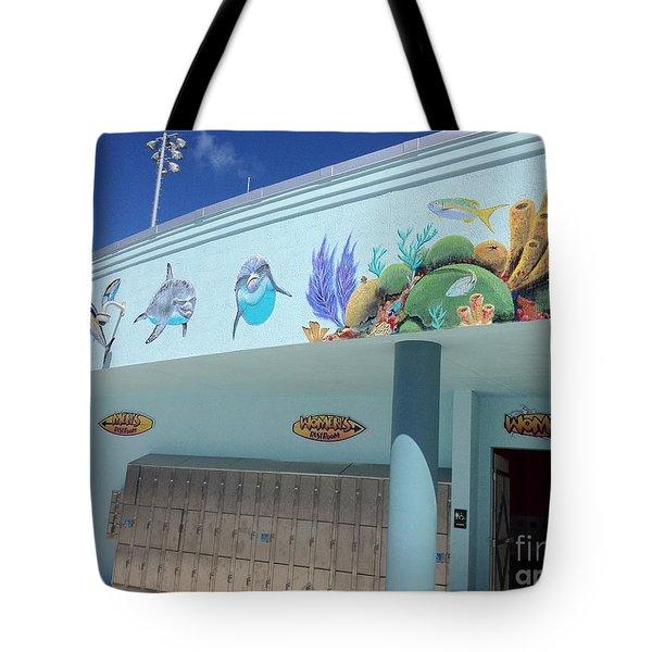 Sailfish Splash Park 4 Tote Bag by Carey Chen
