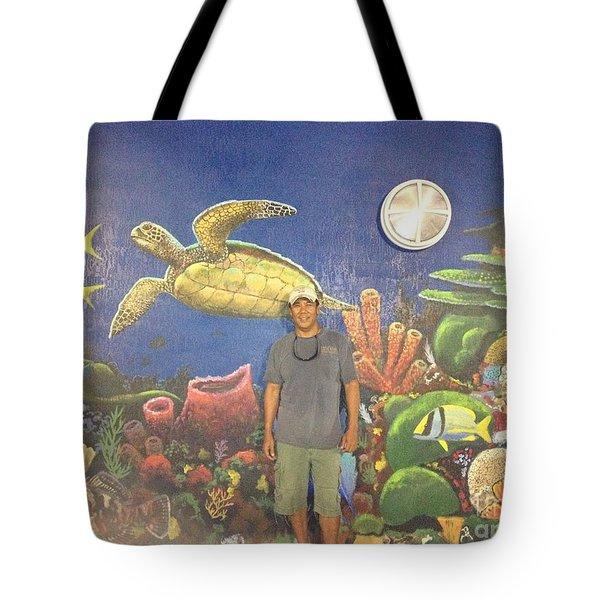 Sailfish Splash Park Mural 7 Tote Bag by Carey Chen