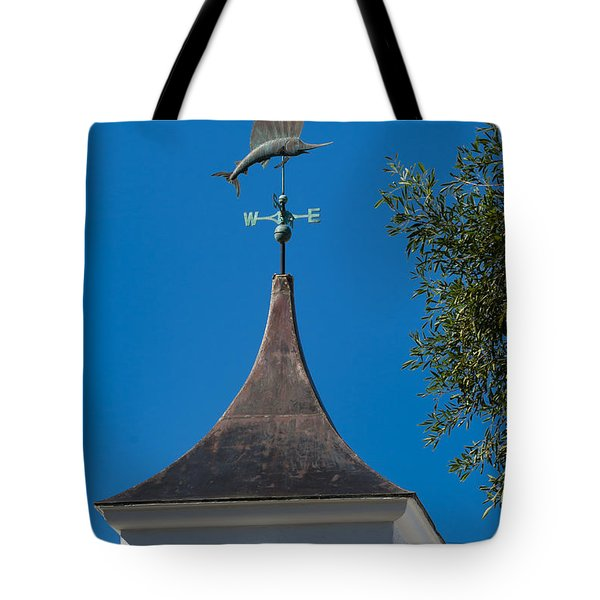 Sailfish Weather Vane At Palm Beach Shores Tote Bag