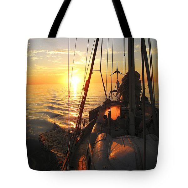 Sailing Tote Bag by Anne Mott