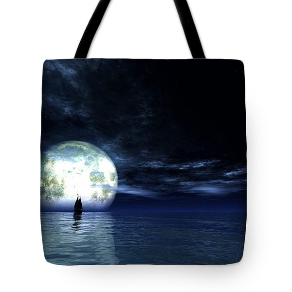 Sailing At Night... Tote Bag by Tim Fillingim
