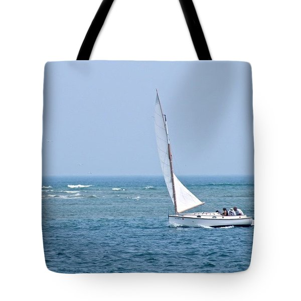 Sailing Off Cape Cod  Tote Bag