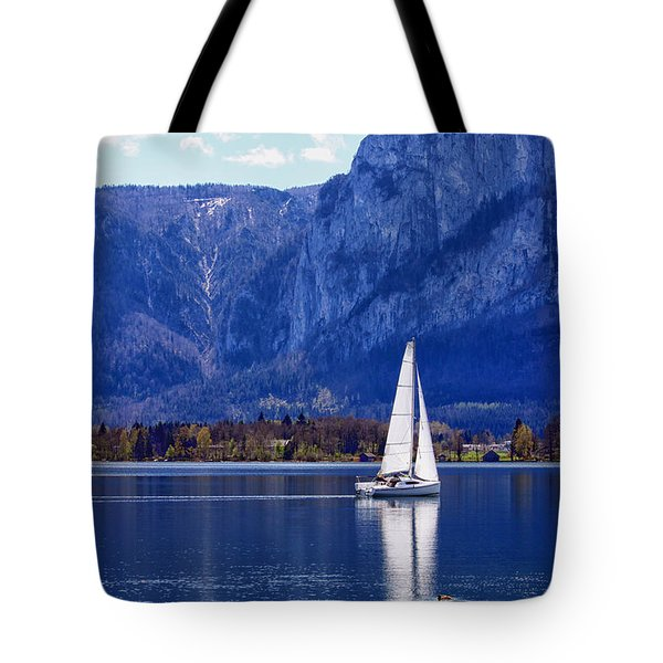 Sailing On Mondsee Lake Tote Bag by Lauri Novak