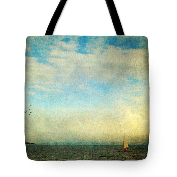 Sailing On The Sea Tote Bag by Michele Cornelius