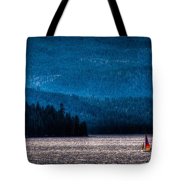 Sailing Priest Lake Tote Bag by David Patterson