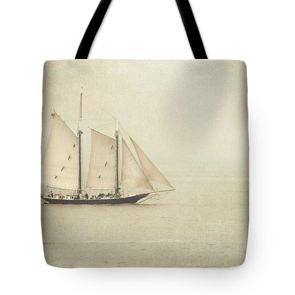 Sailing Ship Tote Bag by Hannes Cmarits