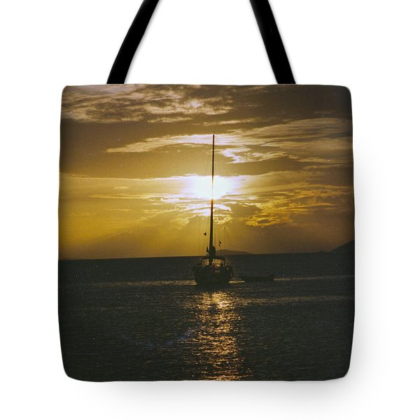 Sailing Sunset Tote Bag by William Norton