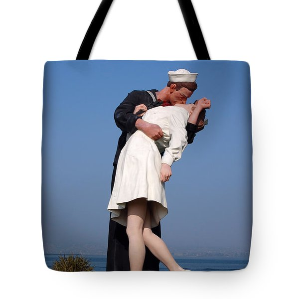 Sailor's Kiss Tote Bag by Holly Blunkall