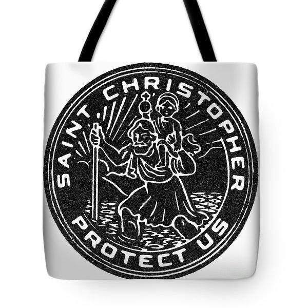 Saint Christopher Medal Tote Bag by Granger