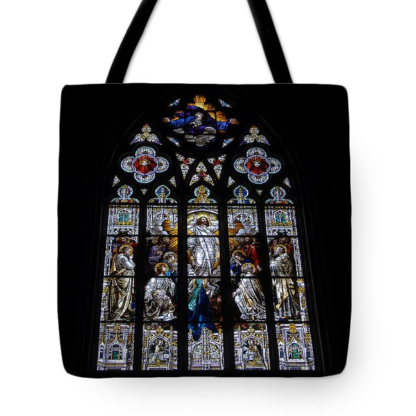 Saint Johns Stained Glass Tote Bag by David Lee Thompson