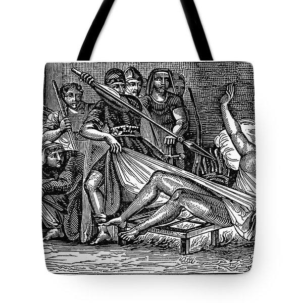 Saint Lawrence (c225-258) Tote Bag by Granger