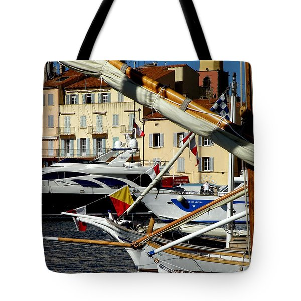 Tote Bag featuring the photograph Saint Tropez Harbor by Lainie Wrightson