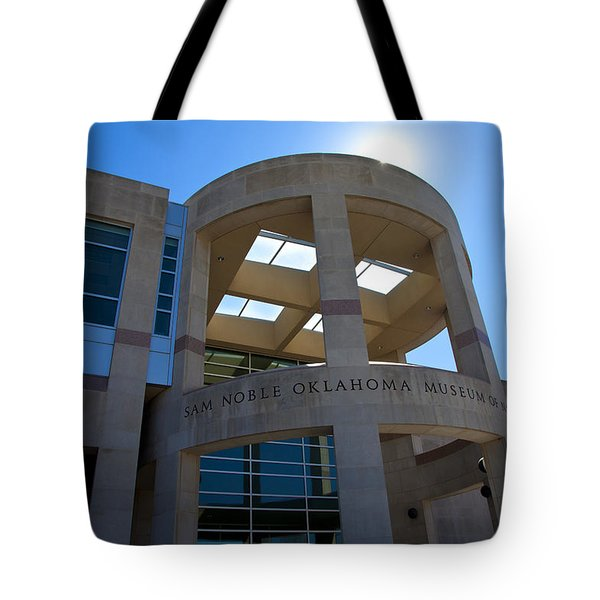 Sam Noble Museum Of Natural History Tote Bag by Toni Hopper