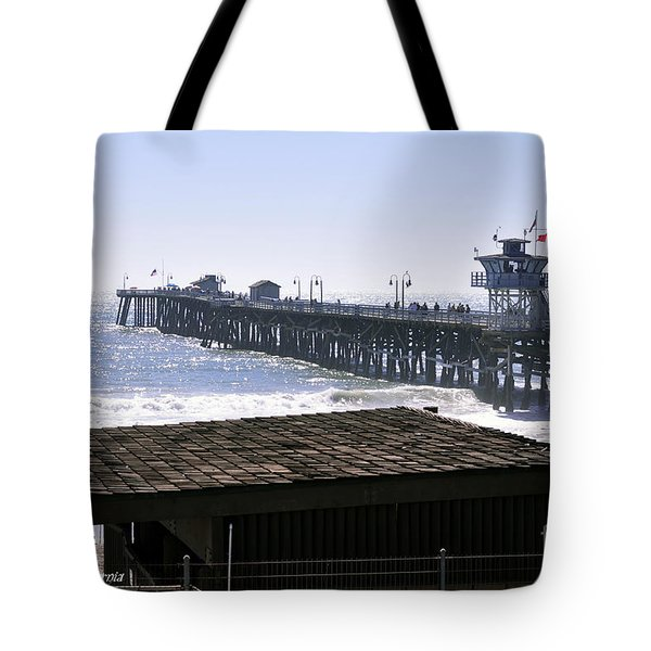 San Clemente Pier California Tote Bag by Clayton Bruster