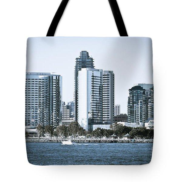San Diego Downtown Waterfront Buildings Tote Bag by Paul Velgos