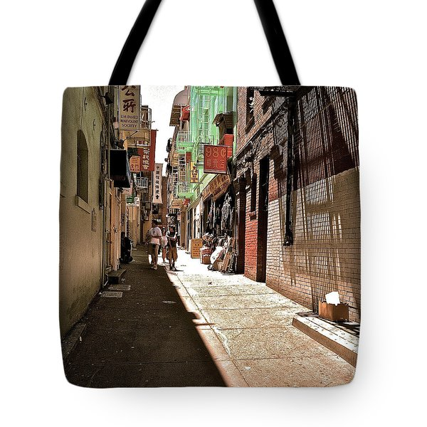 San Fran Chinatown Alley Tote Bag by Bill Owen