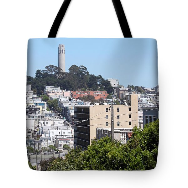 San Francisco Coit Tower Tote Bag