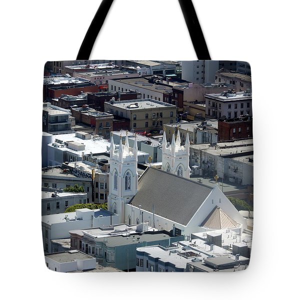 San Francisco St Francis Of Assisi Church Tote Bag