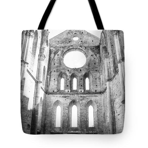 San Galgano Abbey Tote Bag by Ralf Kaiser