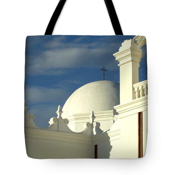 San Xavier Del Bac Mission Arizona Tote Bag by Bob Christopher