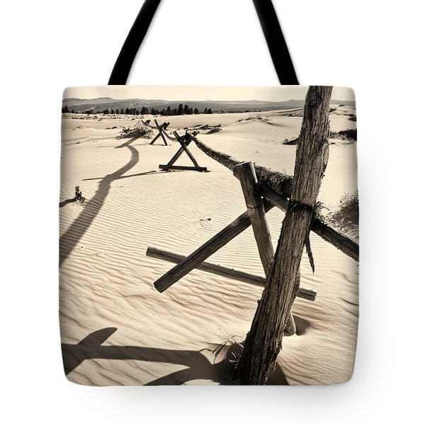 Sand And Fences Tote Bag by Heather Applegate