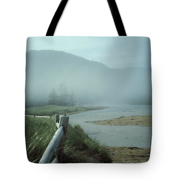 Sand Beach Fog Tote Bag