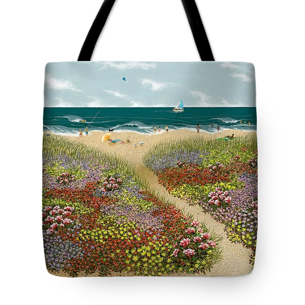 Sand Path Tote Bag
