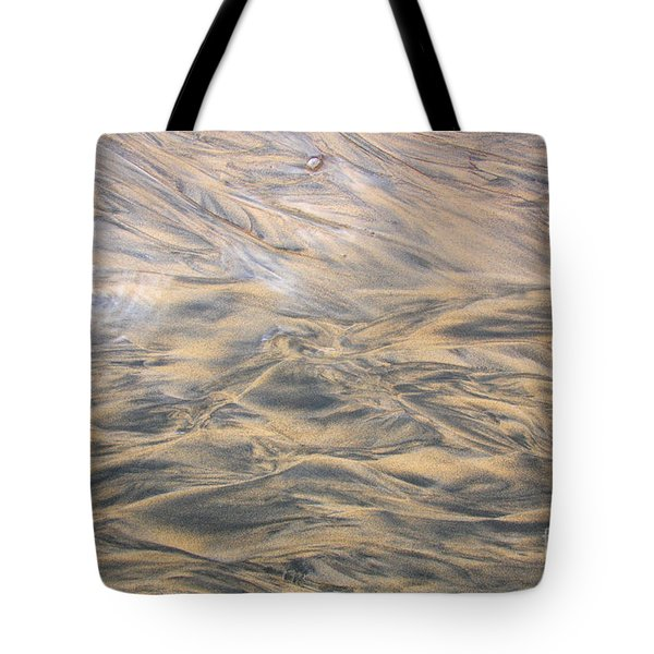 Tote Bag featuring the photograph Sand Patterns by Nareeta Martin