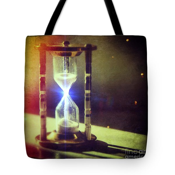 Sand Through Hourglass Tote Bag