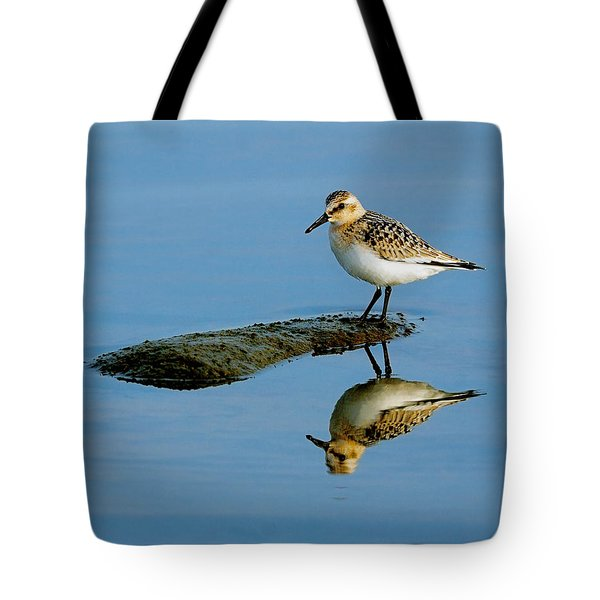 Sanderling Reflecting Tote Bag by Tony Beck