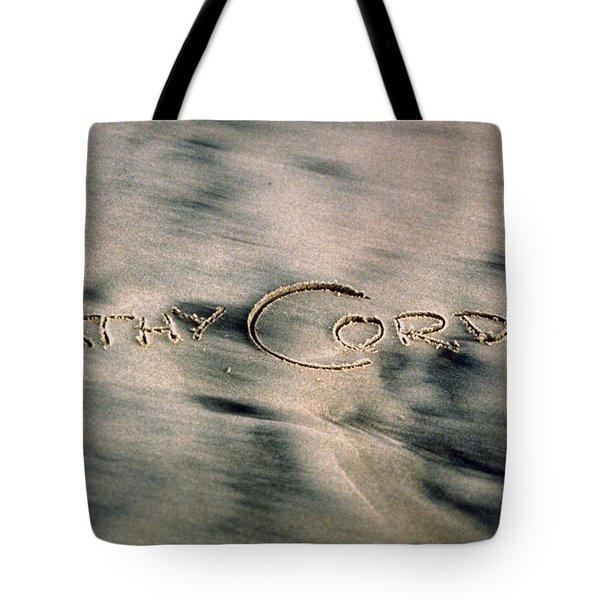 Sandscript Tote Bag