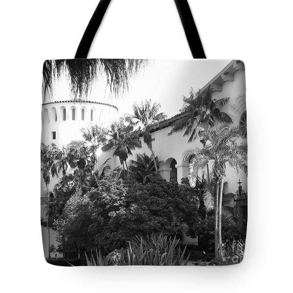 Tote Bag featuring the photograph Santa Barbara Courthouse by Ann Johndro-Collins