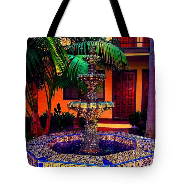 Santa Barbara Fountain Tote Bag