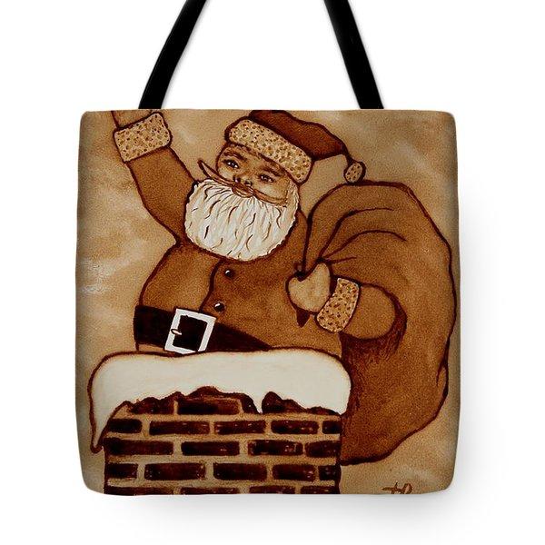 Santa Claus Is Coming Tote Bag by Georgeta  Blanaru