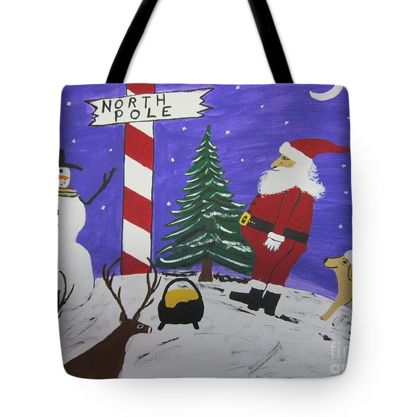 Santa Finds Pot Of Gold Tote Bag by Jeffrey Koss