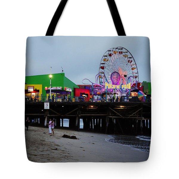 Santa Monica Pier May 12 2012 Tote Bag by Clayton Bruster