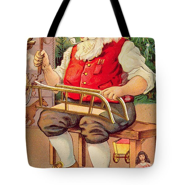Santa's Workshop Tote Bag by English School