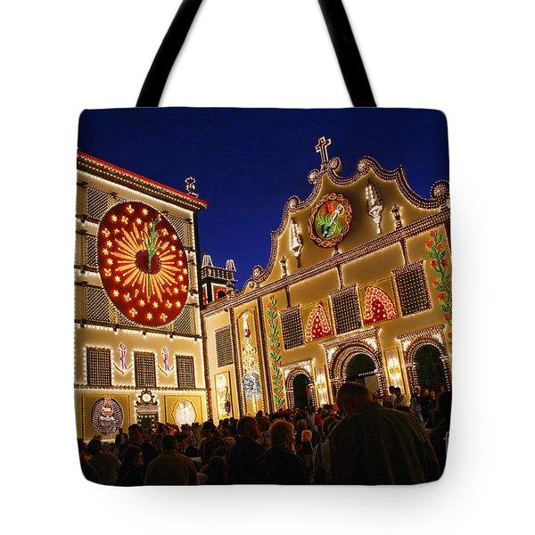 Santo Cristo Festivities Tote Bag by Gaspar Avila
