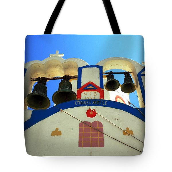 Tote Bag featuring the photograph Santorini Thirasia Island Greece by Colette V Hera  Guggenheim