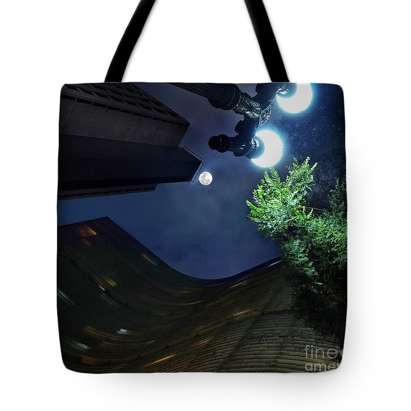Copan Building And The Moonlight Tote Bag