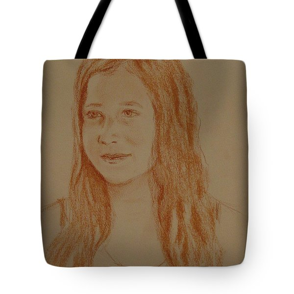 Tote Bag featuring the painting Sarah by Carol Berning