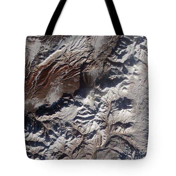 Satellite Image Of Russias Kizimen Tote Bag by Stocktrek Images